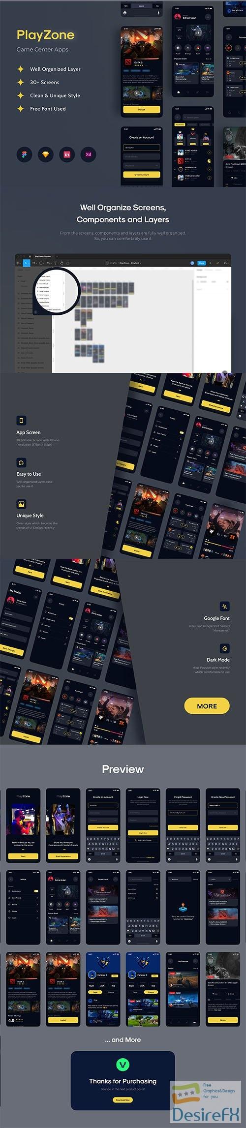 PlayZone - Game Center Apps UI KIT - UI8