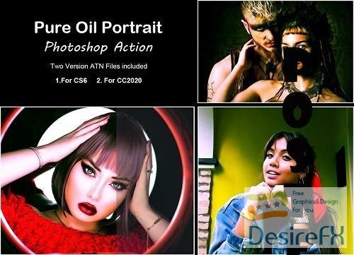 Pure Oil Portrait Photoshop Action - 5360743