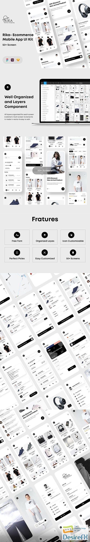 Rika - eCommerce Mobile App UI Kit - UI8