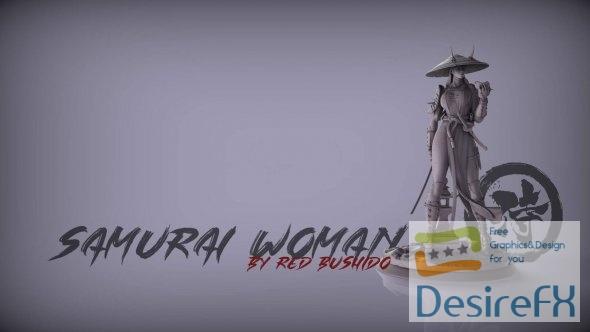 Samurai Woman 3D Print