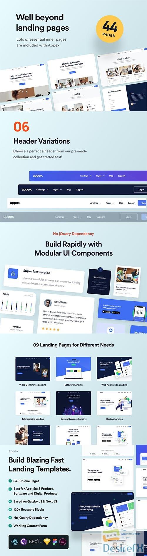 Sandar - React Landing Page Template - UI8