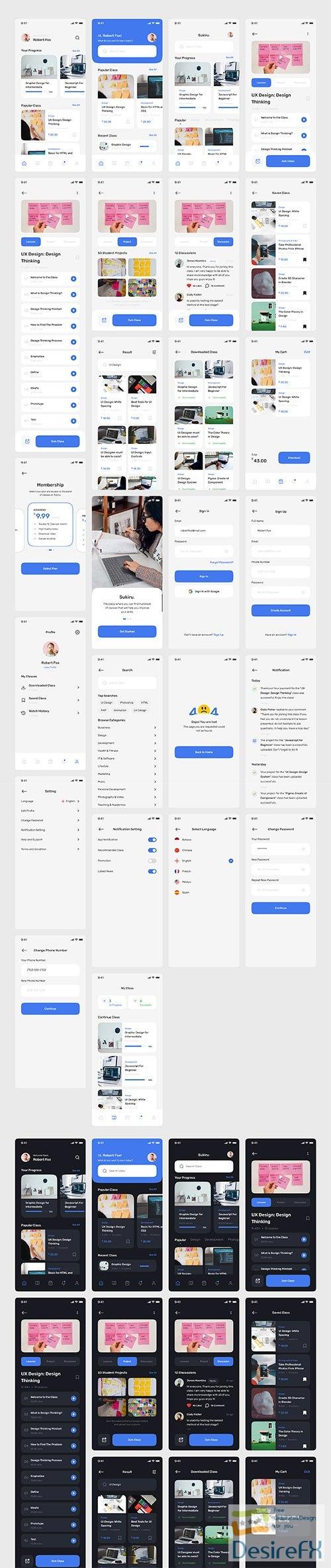 Sikiru - E-Course App UI Kit - UI8