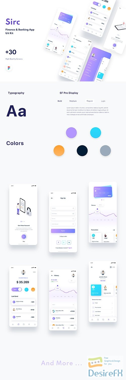 Sirc - Banking App UI Kit - UI8