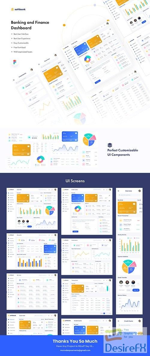 Soft Bank - Banking And Finance Dashboard - UI8