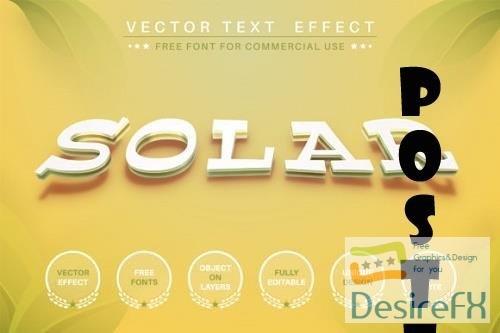 Solar - editable text effect