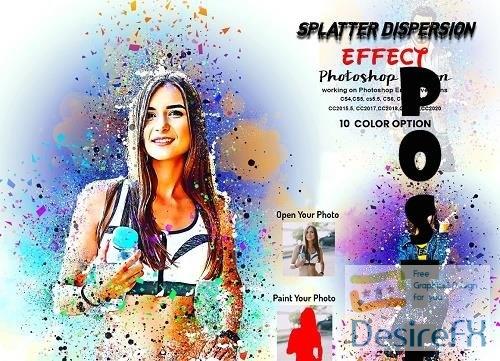 Splatter Dispersion Effect PS Action - 6296762