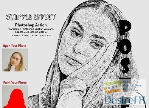 Stipple Effect Photoshop Action - 6298928