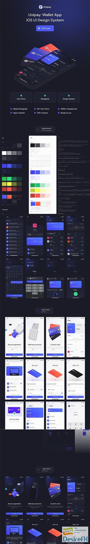 Unipay: Wallet App iOS UI Design System v1.1 - UI8