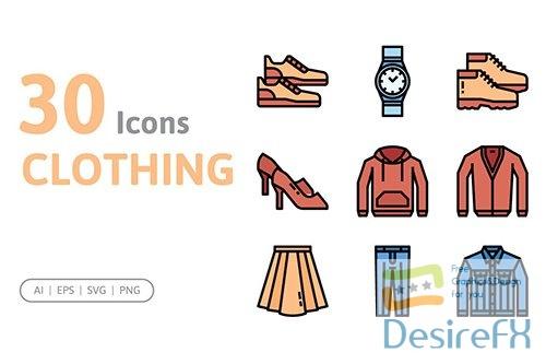 Vector 30 Clothing Icons 4SJ54XM