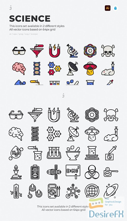 Vector 30 Science Icons PZHJUXK
