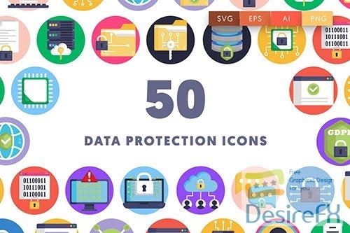 Vector 50 Data Protection Icons QX6FG4B