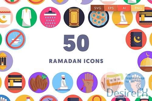 Vector 50 Ramadan Icons 8A5BUZR