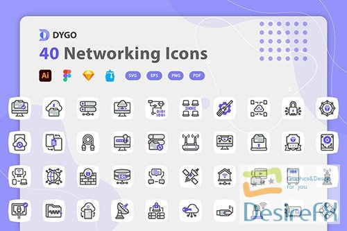 Vector Dygo - Networking Icons PE5Z2Y4
