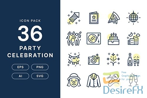 Vector Party Celebration - Icon Pack B5H9XSN