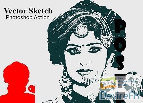 Vector Sketch Photoshop Action - 5119407