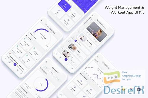 Weight Management & Workout App UI Kit V424J99
