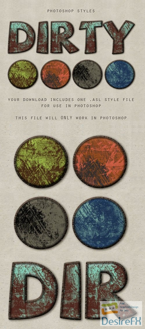 4 Dirty Photoshop Styles