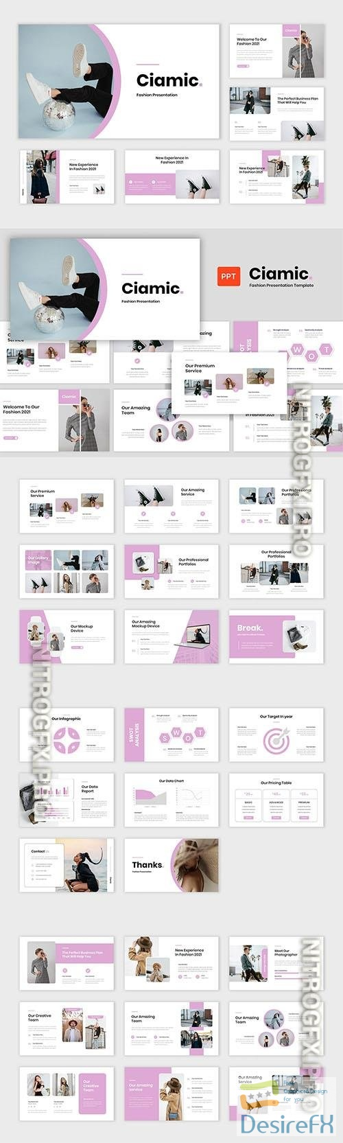 Ciamic - Fashion Presentation Powerpoint, Keynote and Google Slides