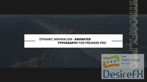 Dynamic Minimalism | Animated Titles for Premiere Pro 23340889
