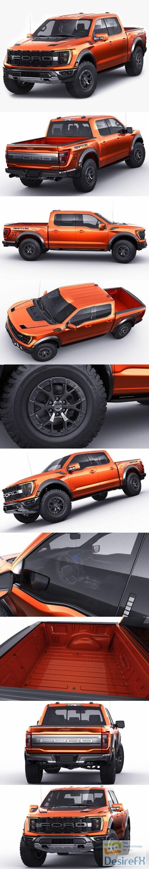 Ford Pick-up F-150 2021 Raptor  3D Model
