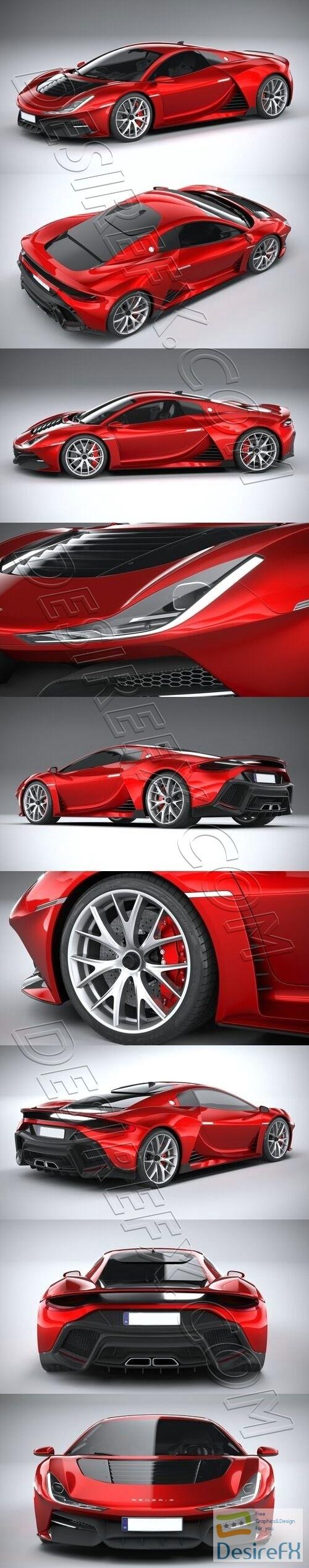Generic Supercar 2020 3D Model