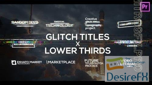 Glitch Titles X Lower Thirds Pack for Premiere Pro 33322154