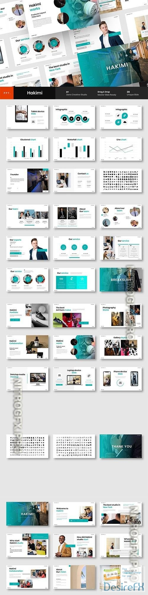Hakimi – Business Powerpoint, Keynote and Google Slides Template