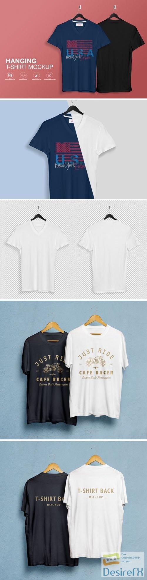 Hanging T-Shirt PSD Mockups Templates
