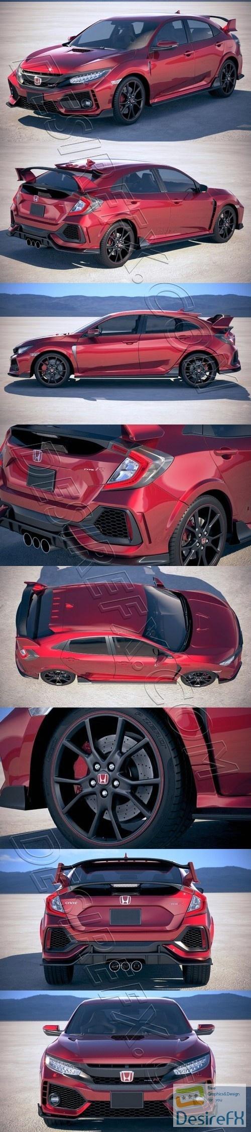 Honda Civic Type R 2018 3D Model