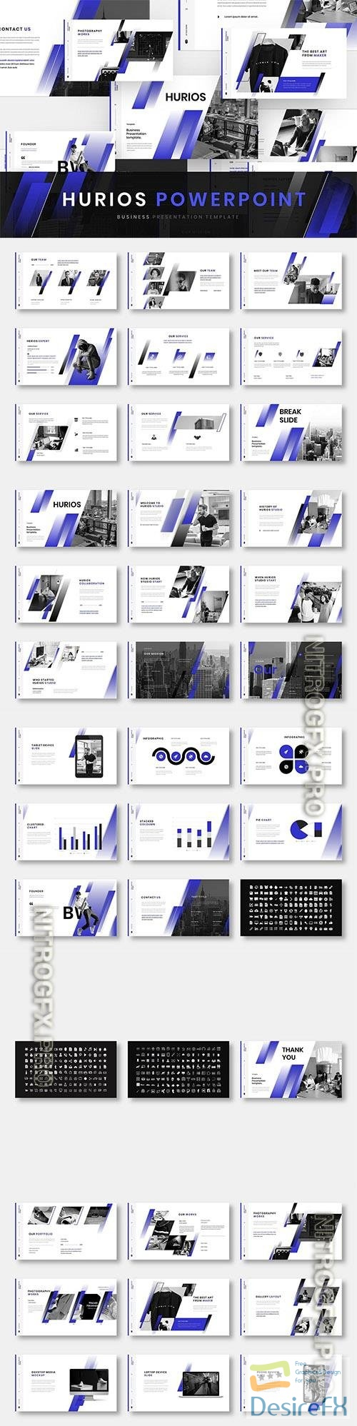 Hurios – Business Powerpoint, Keynote and Google Slides Template