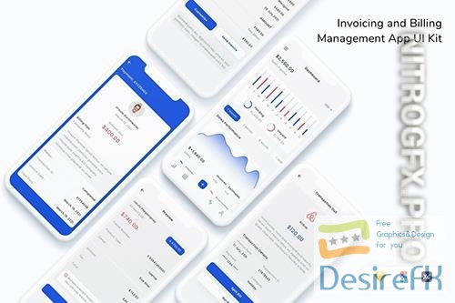 Invoicing and Billing Management App UI Kit