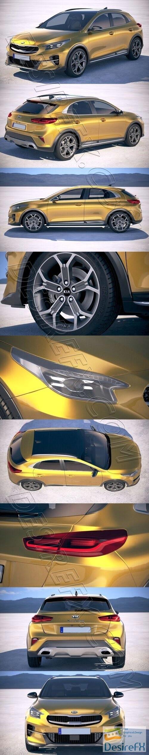 Kia XCeed 2020 3D Model