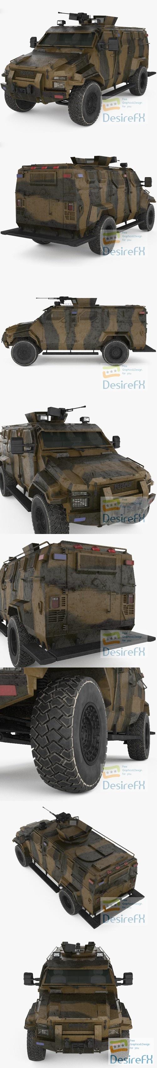 KrAZ Spartan 3D Model