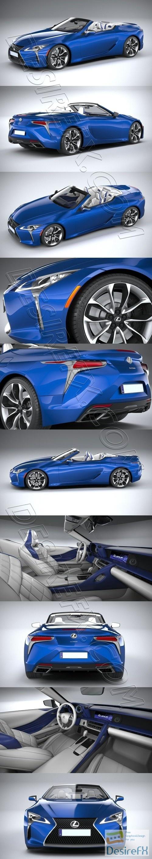 Lexus LC 500 Convertible 2021 3D Model