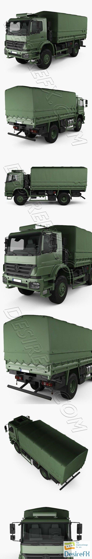 Mercedes-Benz Axor Military Truck 2005 3D Model