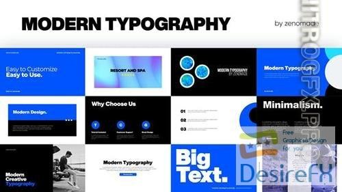 Modern Typography for Premiere Pro 33263442