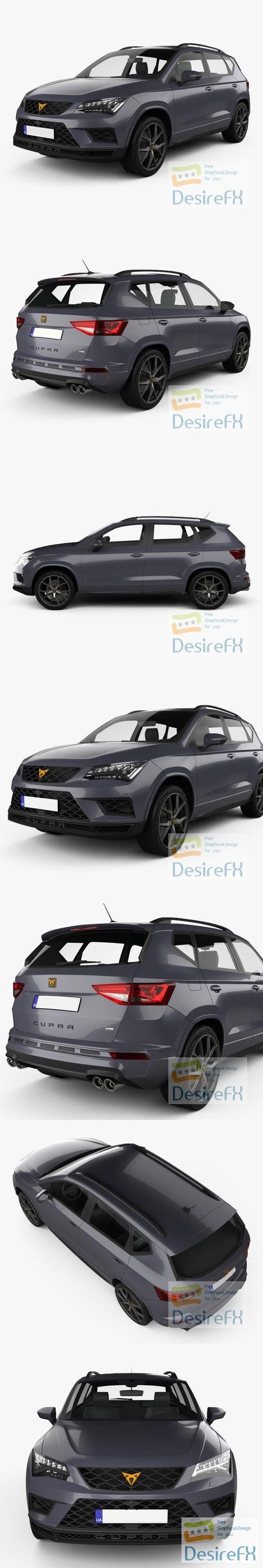 Seat Ateca Cupra 2018 3D Model