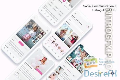 Social Communication & Dating App UI Kit