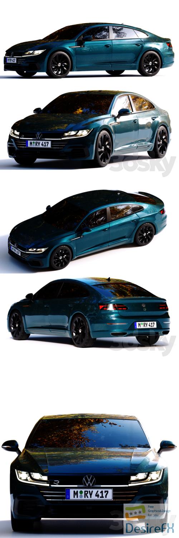 Volkswagen Arteon 2021 R-line 3D Model