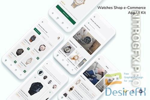 Watches Shop e-Commerce App UI Kit