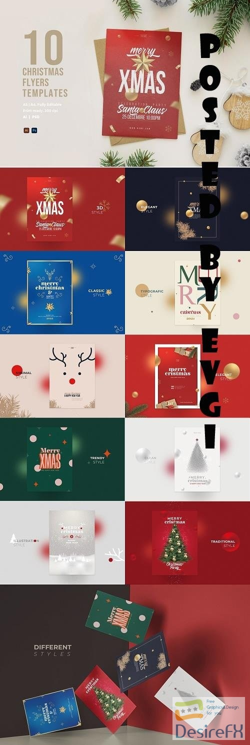 10 Christmas Flyers Templates - 6536817