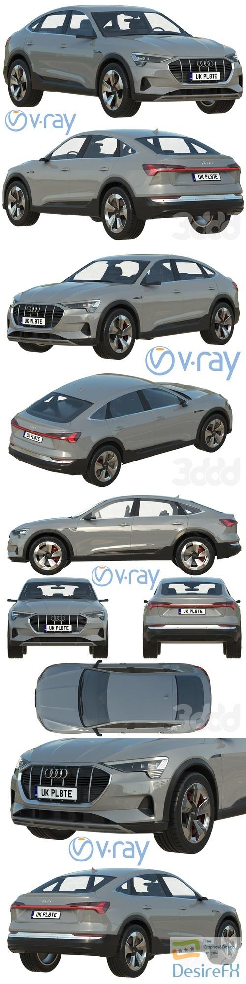 Audi e‑tron Sportback 3D Model