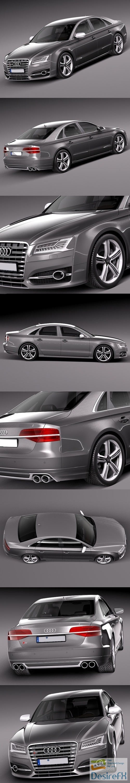 Audi S8 2014 3D Model