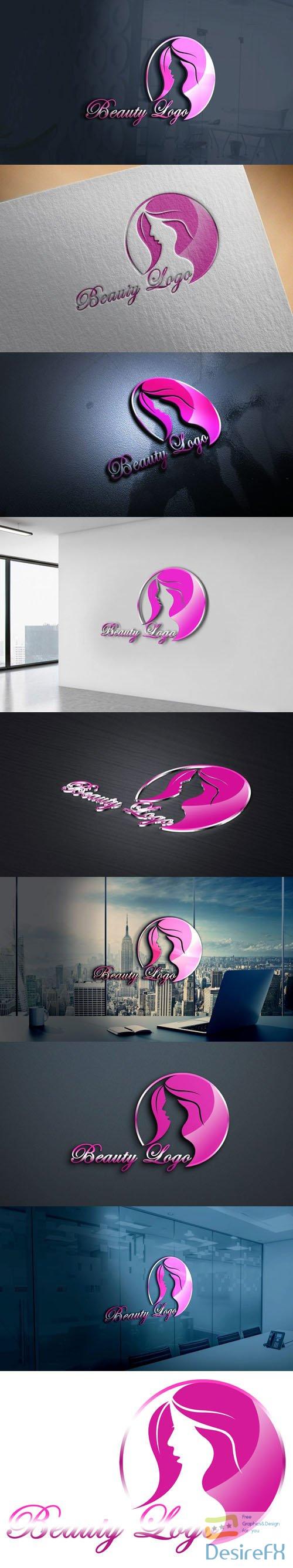 Beauty Logo Design PSD Template