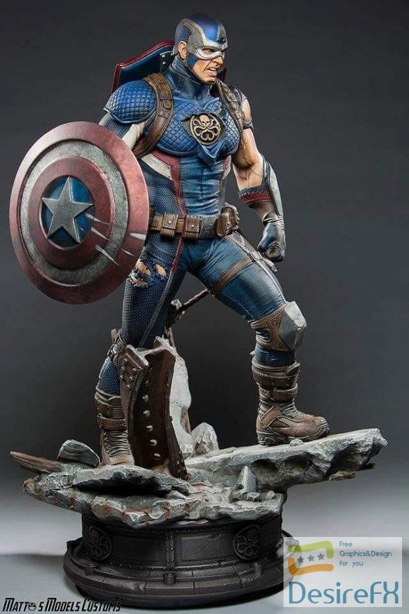 Captain America Secret Empire 3D Print