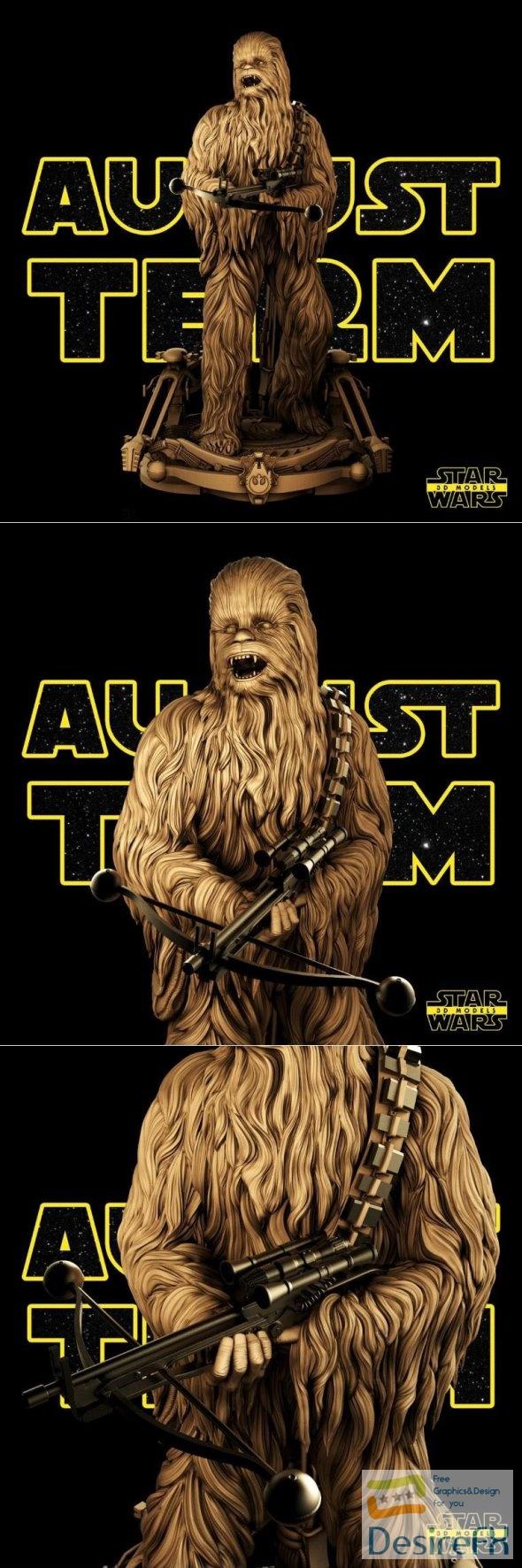Chewbacca Chewie 3D Print