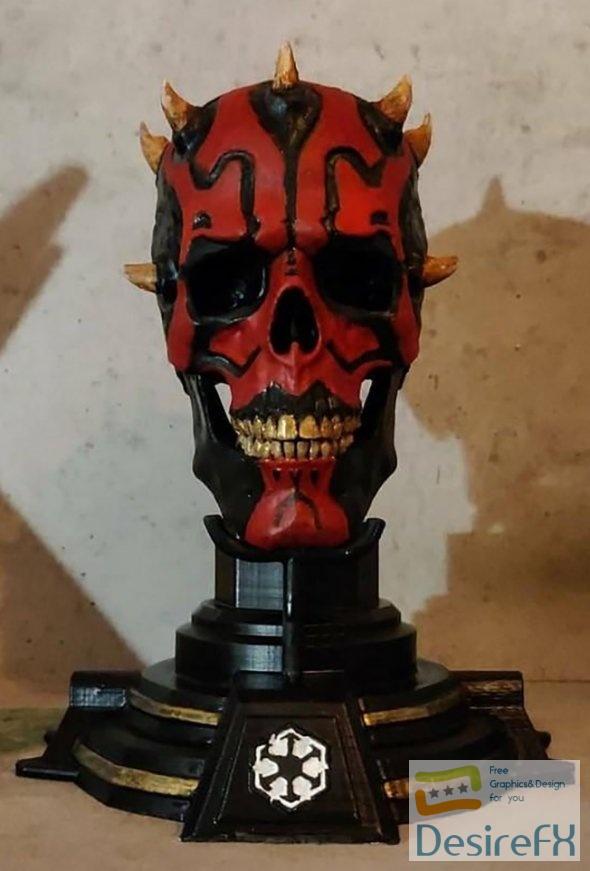 Darth Maul Skull 3D Print