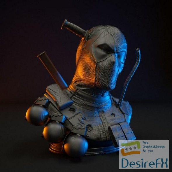 Deadpool Bust 3D Print