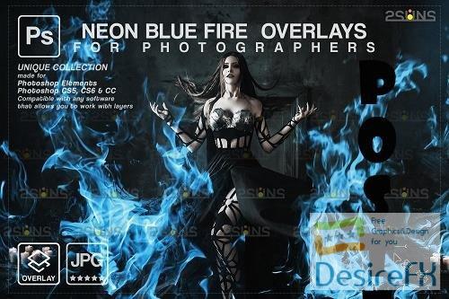 Fire background, Photoshop overlay, Burn overlays, Neon Blue Fire -  1447876