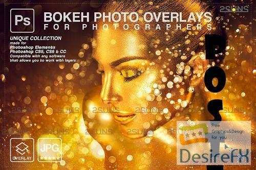 Gold glitter overlay, Sparkler overlay, Dust photoshop layer, Bokeh light V5 - 1447927
